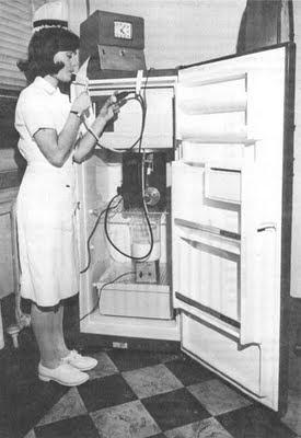Feeding machine dispensing the bland liquid diet